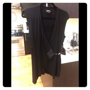 BeBe blouse in black with leather side buckle